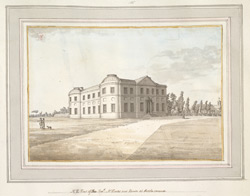 The Rev. Mr Hare's New House At Herstmon f. 74 (no. 136)